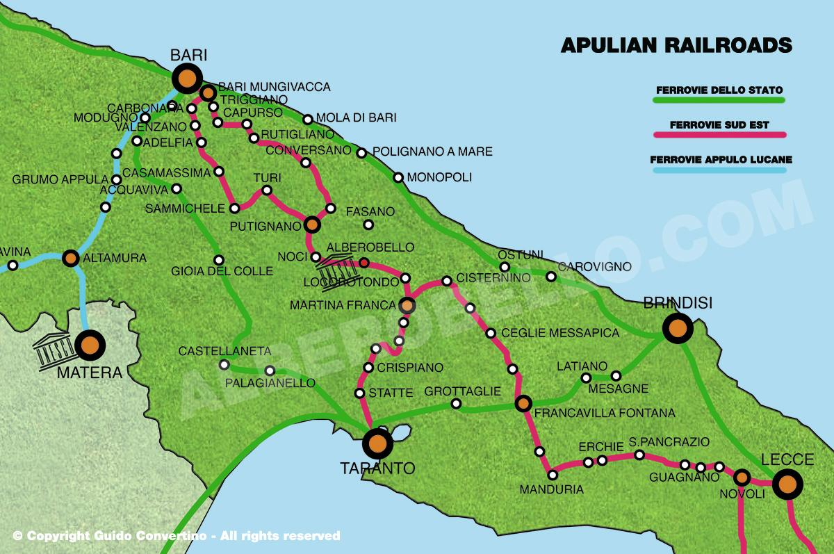 Apulian railroads