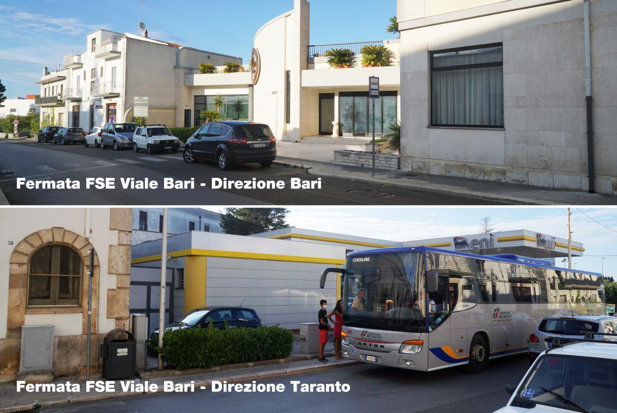 Fermate Autobus FSE in Viale Bari